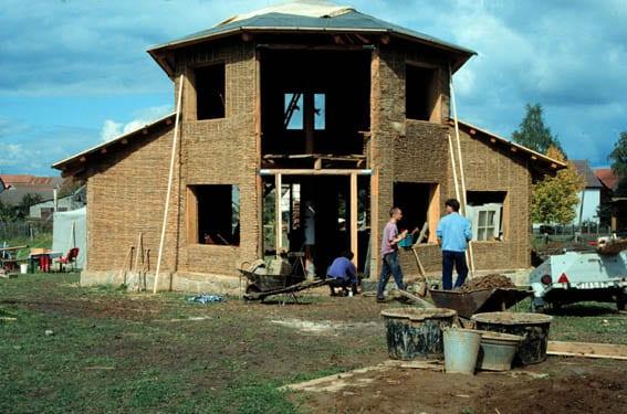 Houtleem leembouw houtsnippers