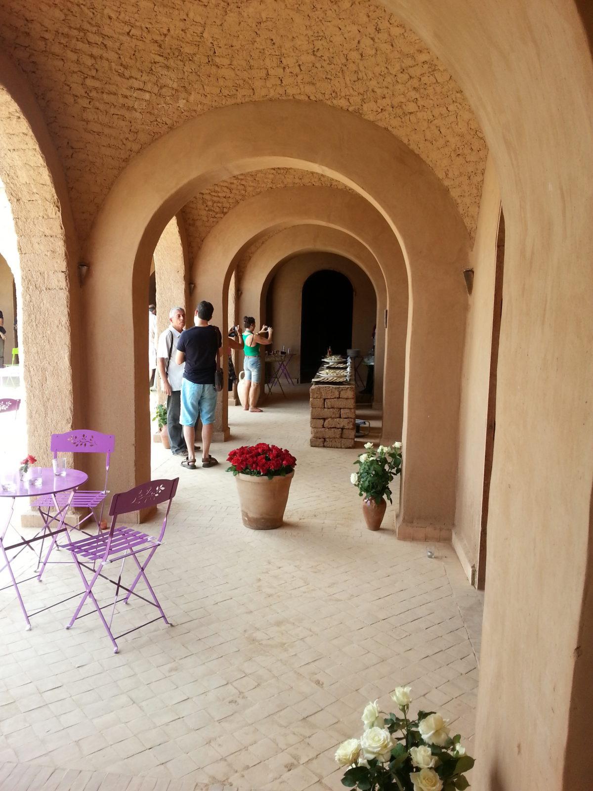 Leemstenen Gebouw in Marrakech