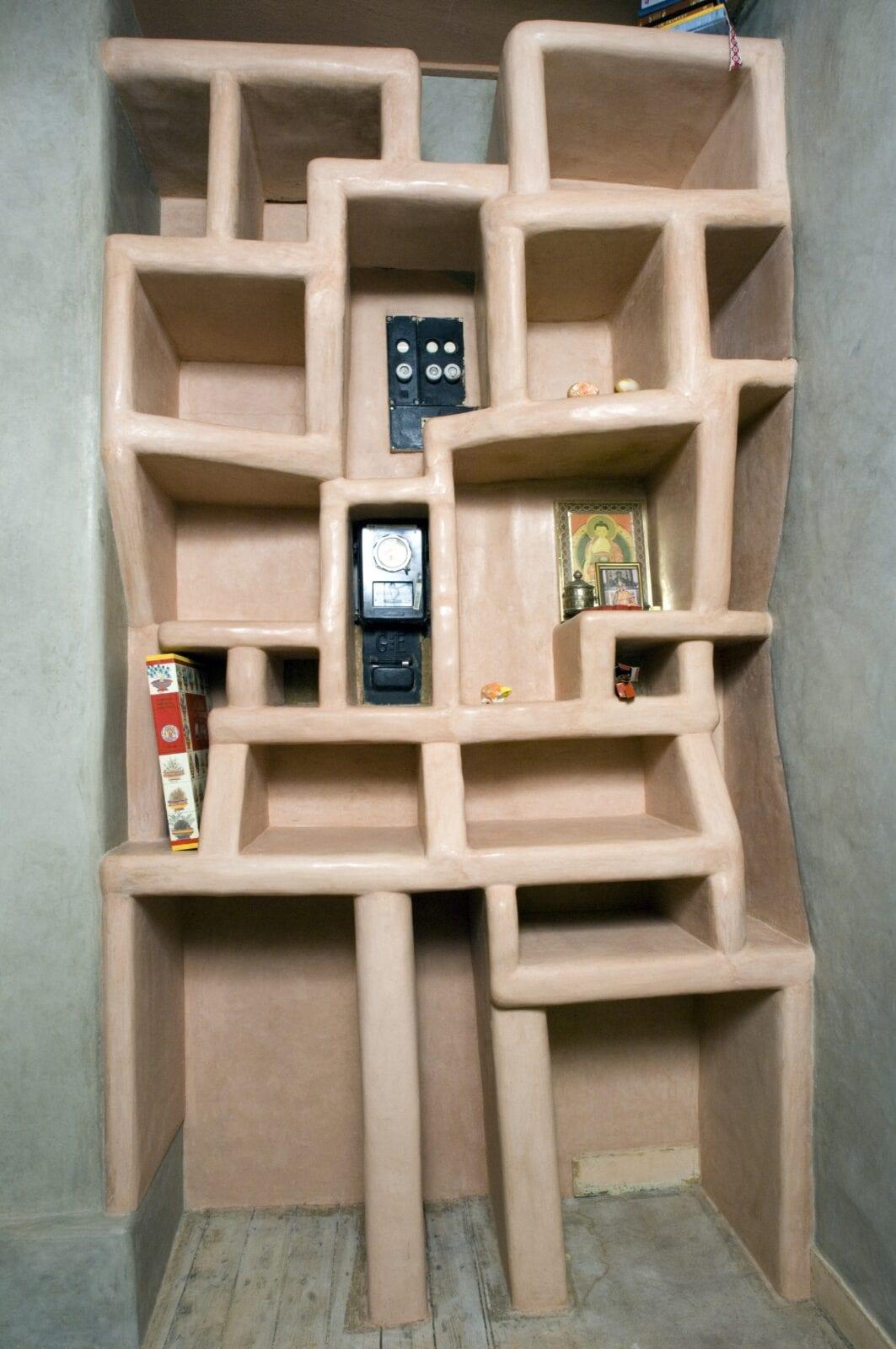 Tadelakt Tierrafino Stone boekenkast