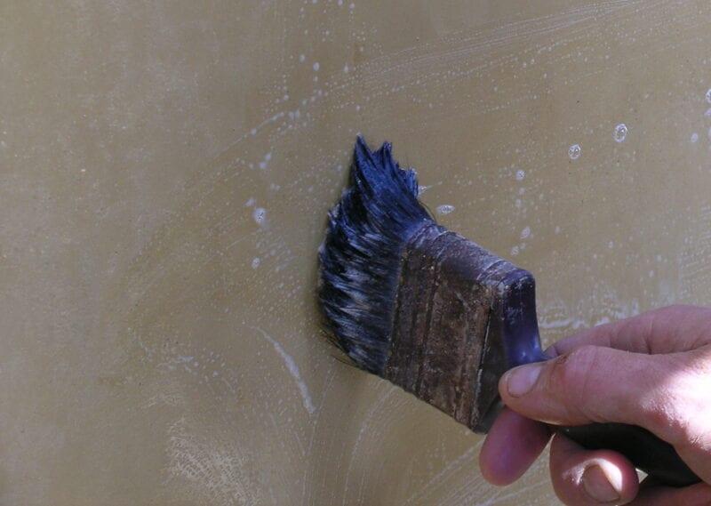 Tadelakt zeep opbrengen