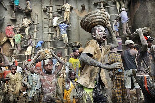 basisleem in Afrika