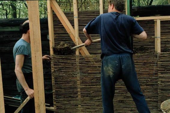 houtleem vulling tengel en riet