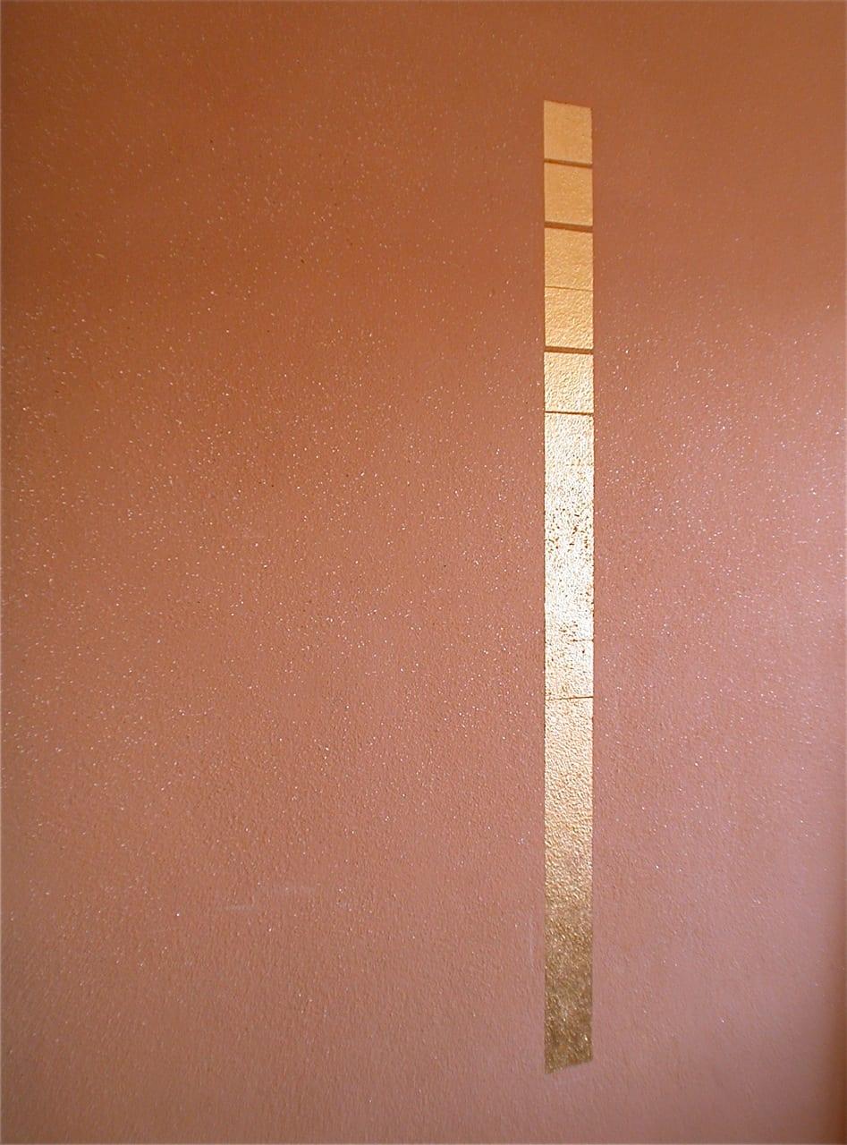 leemstuc leempleister met blad goud