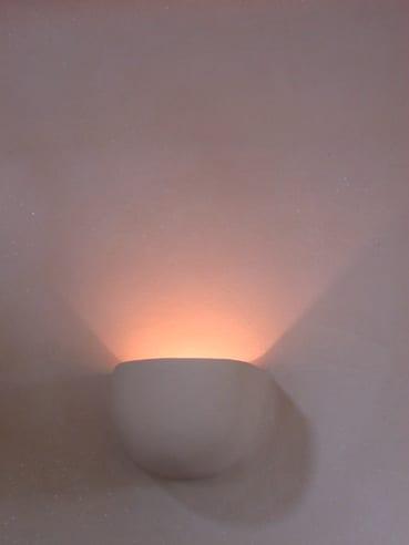 leemstuc leempleister ronde lamp